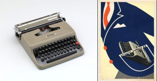 Портативная пишущая машинка Olivetti Lettera 22 дизайна Марчелло Ниццоли (Италия)