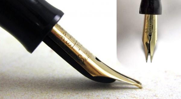 Гибкое перо на перьевой ручке