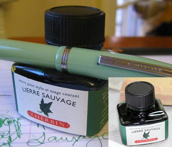 Флакон чернил J.Herbin с местом для ручки