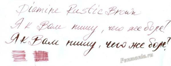 образцы чернил Diamine: Rustic Brown