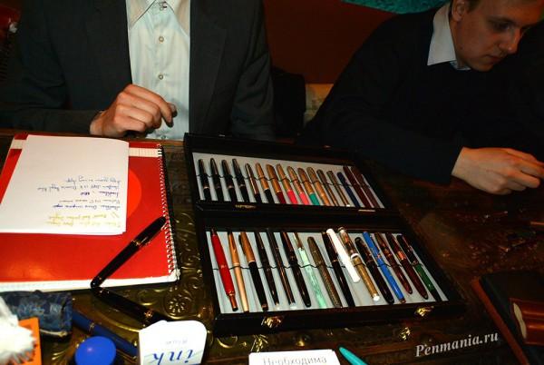 Встреча клуба приверженцев письма перьевой ручкой в Москве, 15 апреля 2015. В этой красивой коробочке - только японские ручки!!!