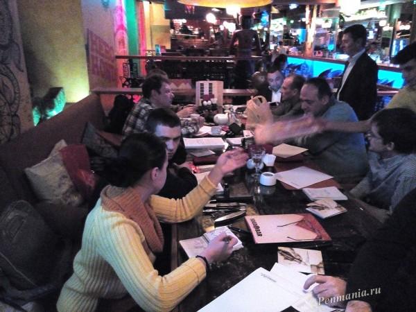 Встреча клуба приверженцев письма перьевой ручкой в Москве, 18 февраля 2015