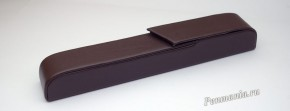 Чехол на 1 ручку, жесткий, кожа, темно-коричневого цвета