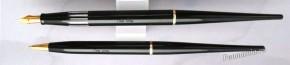 Настольные ручки Omas Extra. Перьевая F, 18К (Италия) + шариковая