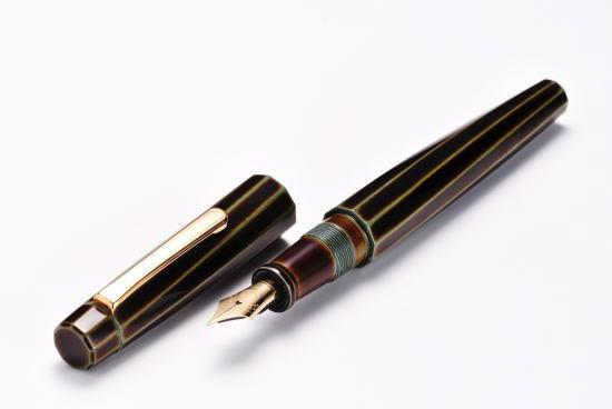 перьевая ручка Nakaya закрученная десятигранная