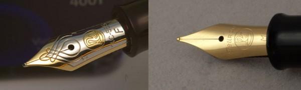перья Pelikan M400 и M200
