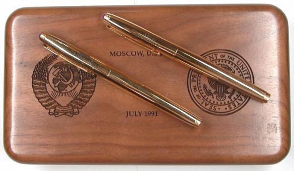 ручки Parker 75, которыми был подписан договор СНВ-1 в 1991 году