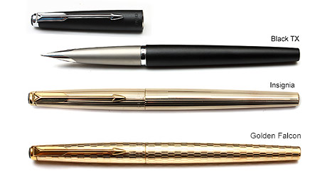Parker 50 black (TX), Insignia, Golden Falcon