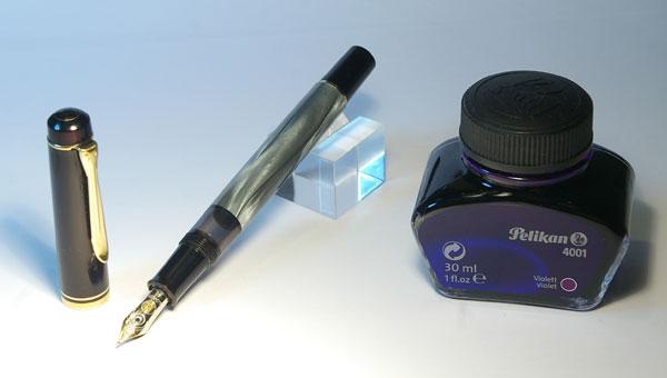 Перьевая ручка Pelikan M200 (перо F, золото 14K (585) от Pelikan M400)