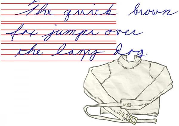 На пути к красивому почерку. смирительная рубашка для букв готова и состоит из 4 основных линий