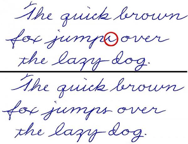 На пути к красивому почерку. дорабатываем элементы букв