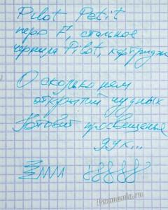 образец письма перьевой ручки Pilot Petit / writing sample