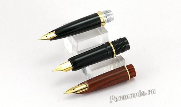 Настольные перьевые ручки Platinum DP-1000, Platinum DPQ-700 и Pilot Woody (Япония)