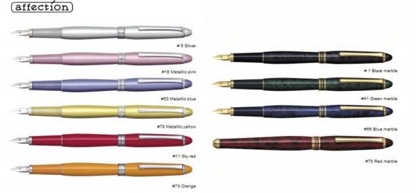 варианты оформления корпуса ручки Platinum Affection