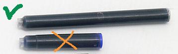Длинный картридж International подходит для ручки Schneider P65 Compactor filler