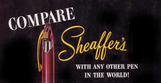 Sheaffer. Сравни с любой другой ручкой
