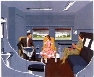 в Пуллмановском купе поезда Super Chief