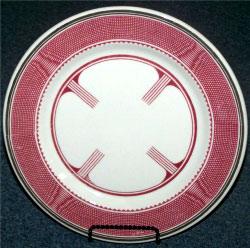 на таких тарелках, с дизайном, специально разработанным для поезда Super Chief, подавали яства