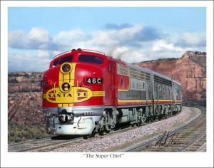 легендарный поезд Santa Fe Super Chief